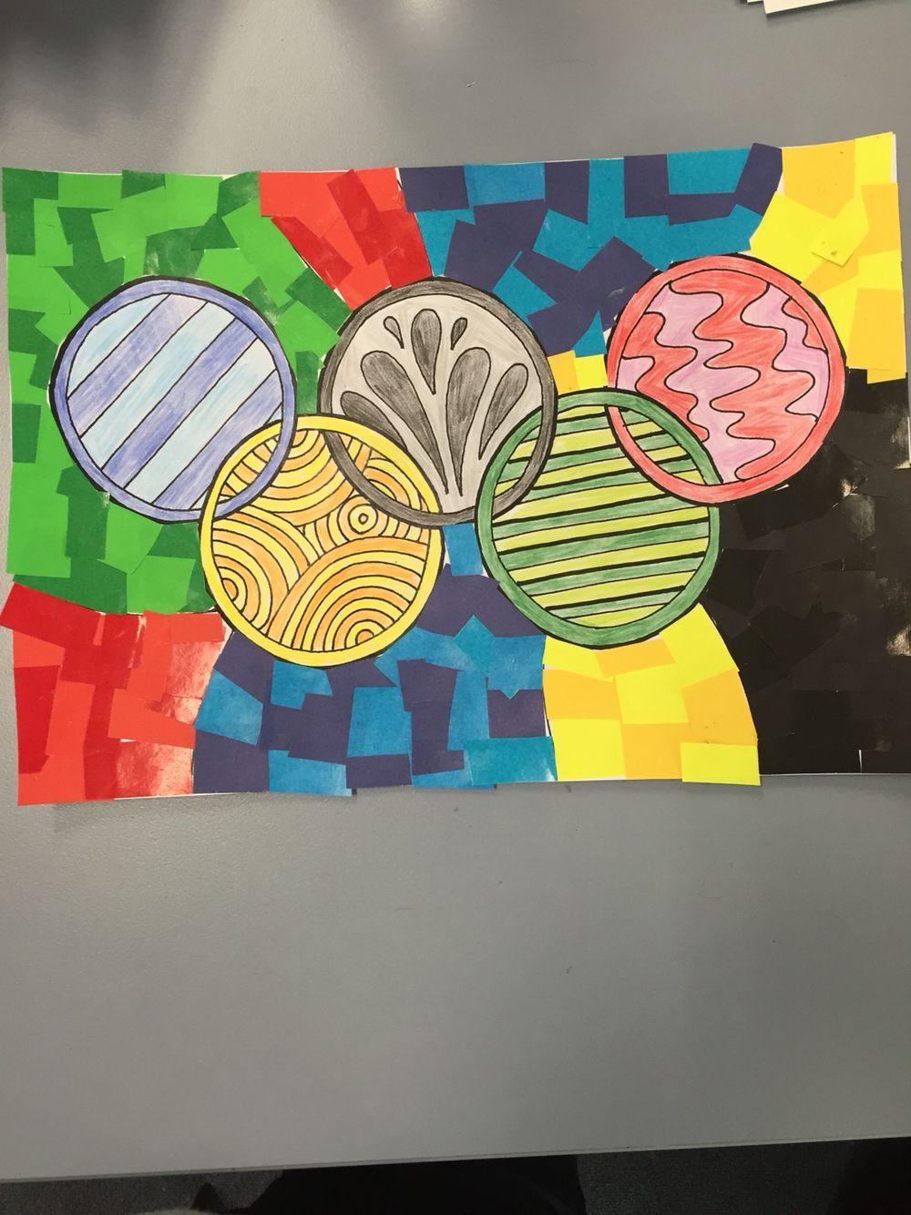 Crayon Rings Olympic Rings Art School Art Ideas Pinterest Olympic Idea