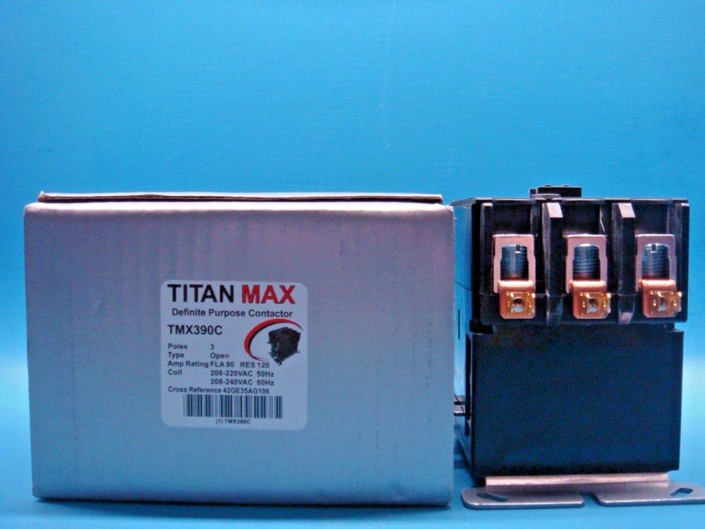 1 Tmx390c Titan Max Dp Contactor 3 Pole 90a 240v Coil 42ge35aj106
