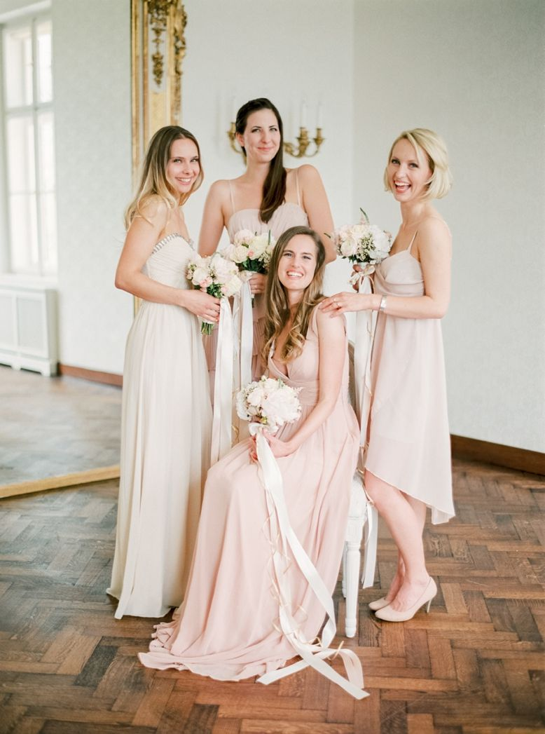 Blush toned bridesmaids dresses by Joma Fashion Concept Store