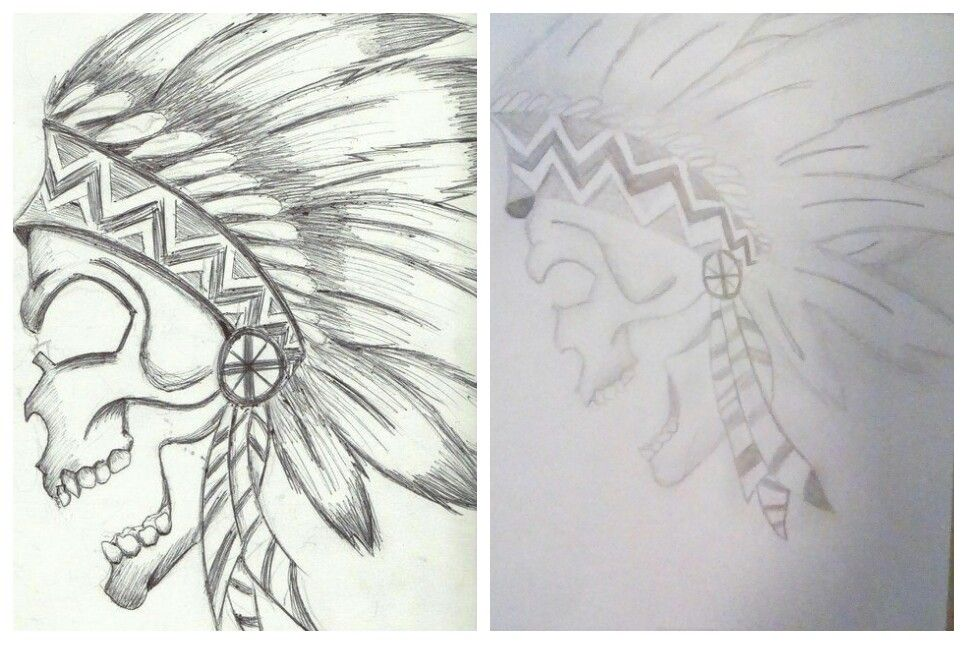 The one on the left is the actual pic. The one on the right is my drawing of it. I free handed it