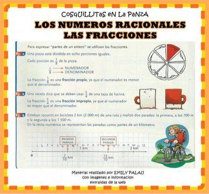 Fracciones Subir Matematicas Fracciones Fracciones Números Racionales