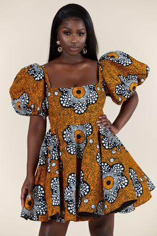 African Print Kudzi Dress