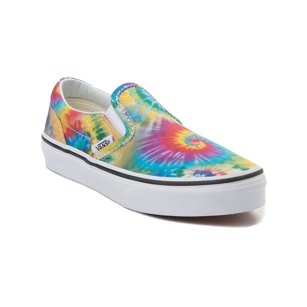 Youth Vans Slip On Tie Dye Skate Shoe Multi 1498180