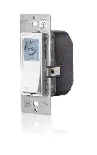 Leviton Vpt24 1pz Vizia 24 Hour Programmable Indoor Timer With Astronomical Clock Leviton Clock Timer