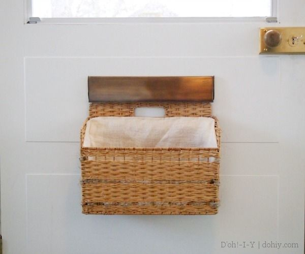 Unique Basket Hack! Make a Mail Basket from an Wicker Magazine File (this  MK77
