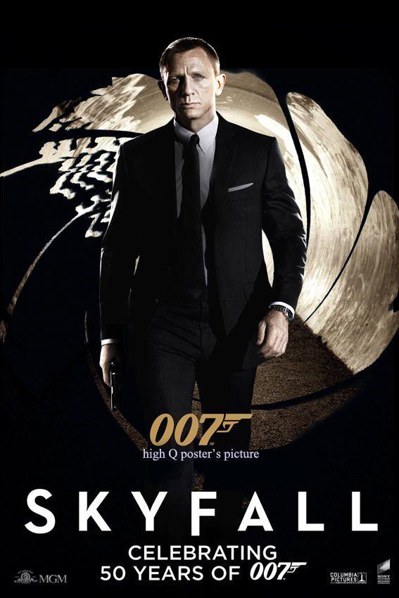 james bond skyfall 007 banner vinyl 27x40 poster daniel