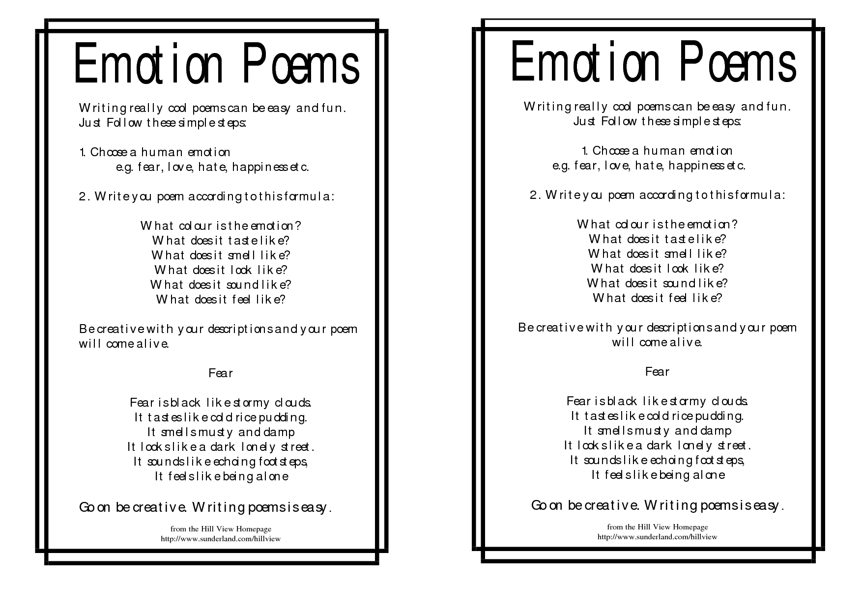 Emotion poems  Poems, Poem template, Teaching poetry