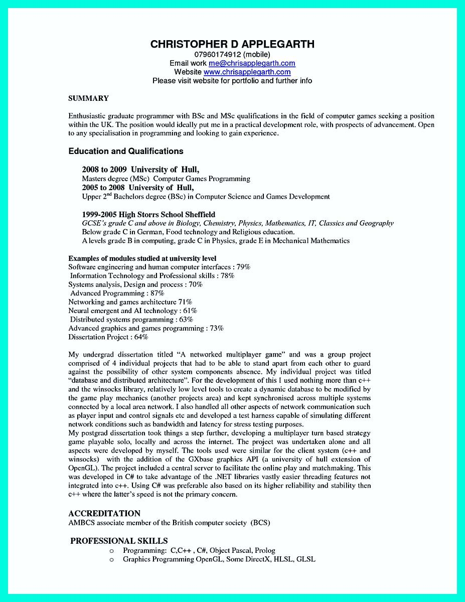 Nice Resume Templates Nice The Best Computer Science Resume Sample Collection Check
