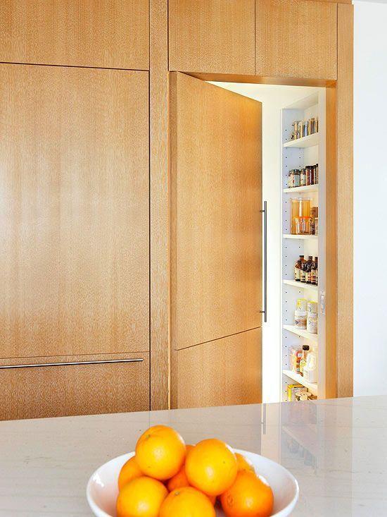 mid century modern hidden pantry door - Google Search