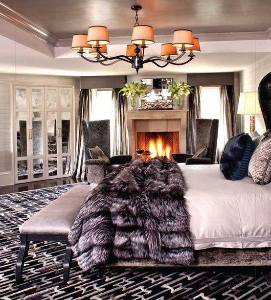 Kris Jenner's bedroom.