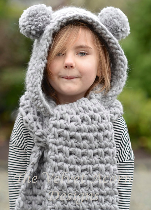 Crochet Pattern The Zolta Hooded Scarf 1218 Months Toddler Child