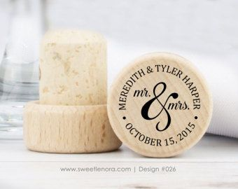 Personalized Wine Stopper Mr And Mrs Custom Wood