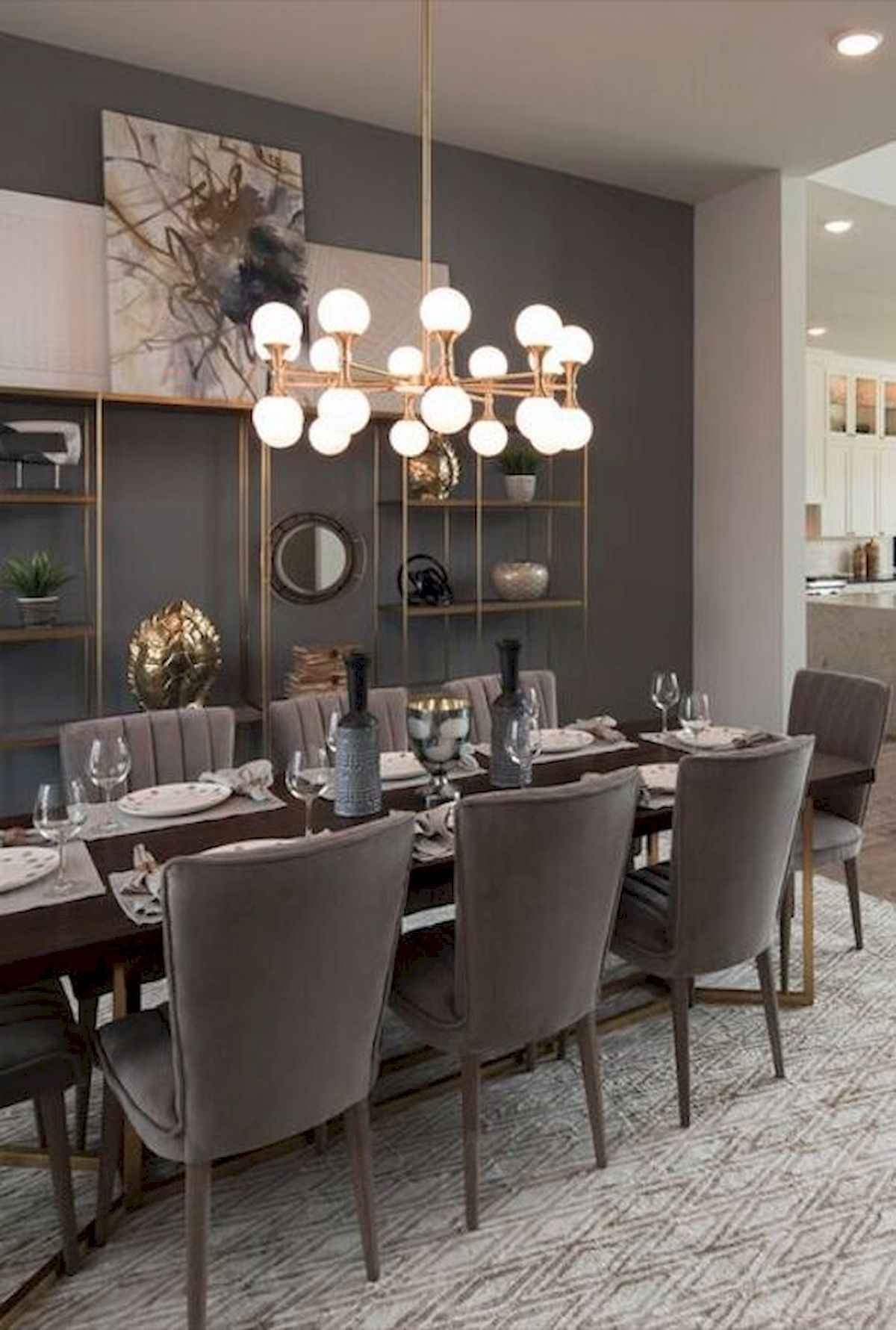 80 Elegant Modern Dining Room Design And Decor Ideas