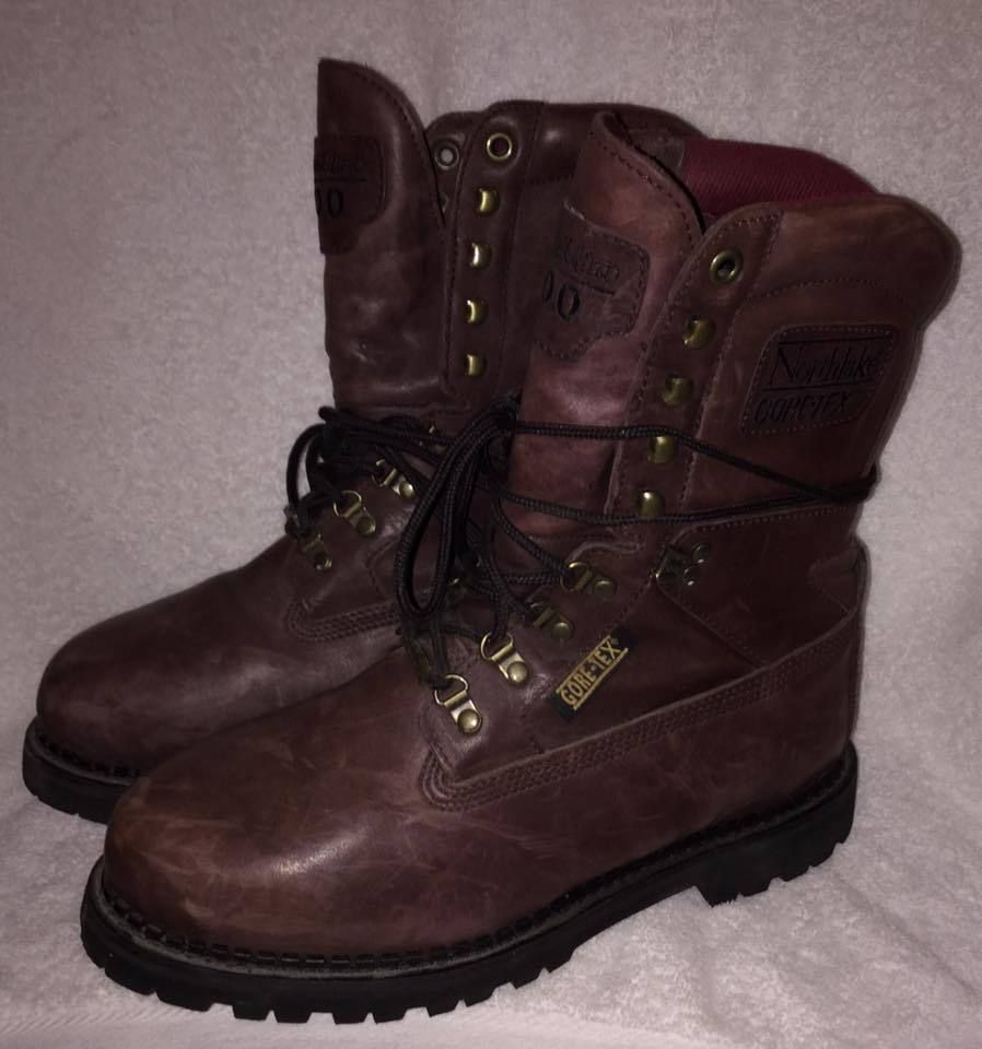 Gore-Tex Waterproof Brown Leather Boots