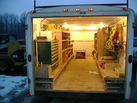 Contractor Talk Professional Construction And Remodeling Forum Trailer Shelving Trailer Organization Trailer Storage