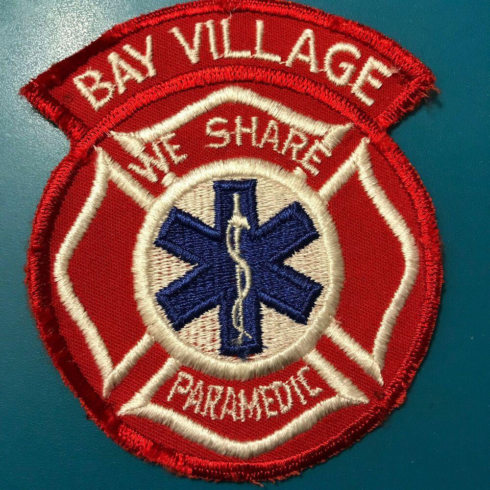 Bay village paramedic ohio ems emt patch paramedic ems
