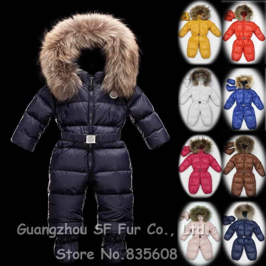French luxury brand winter baby snowsuit newborn warm duck down ...