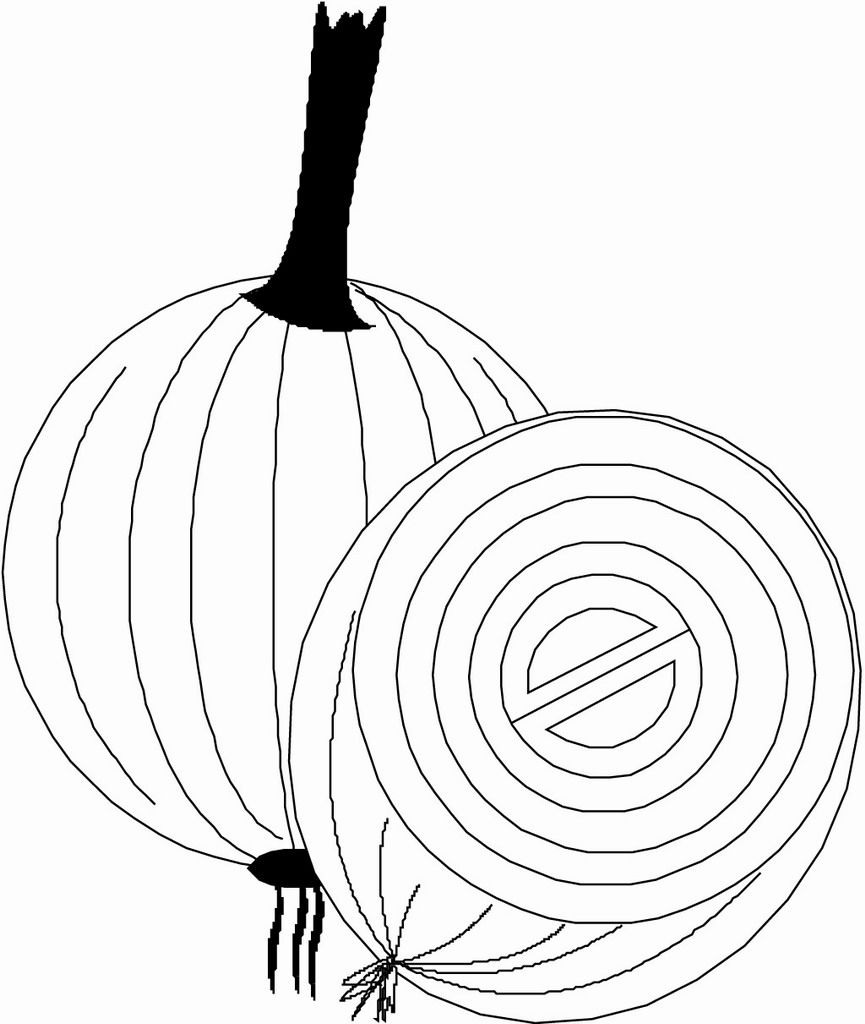 Onion Coloring Page Vegetable Coloring Pages Coloring Pages