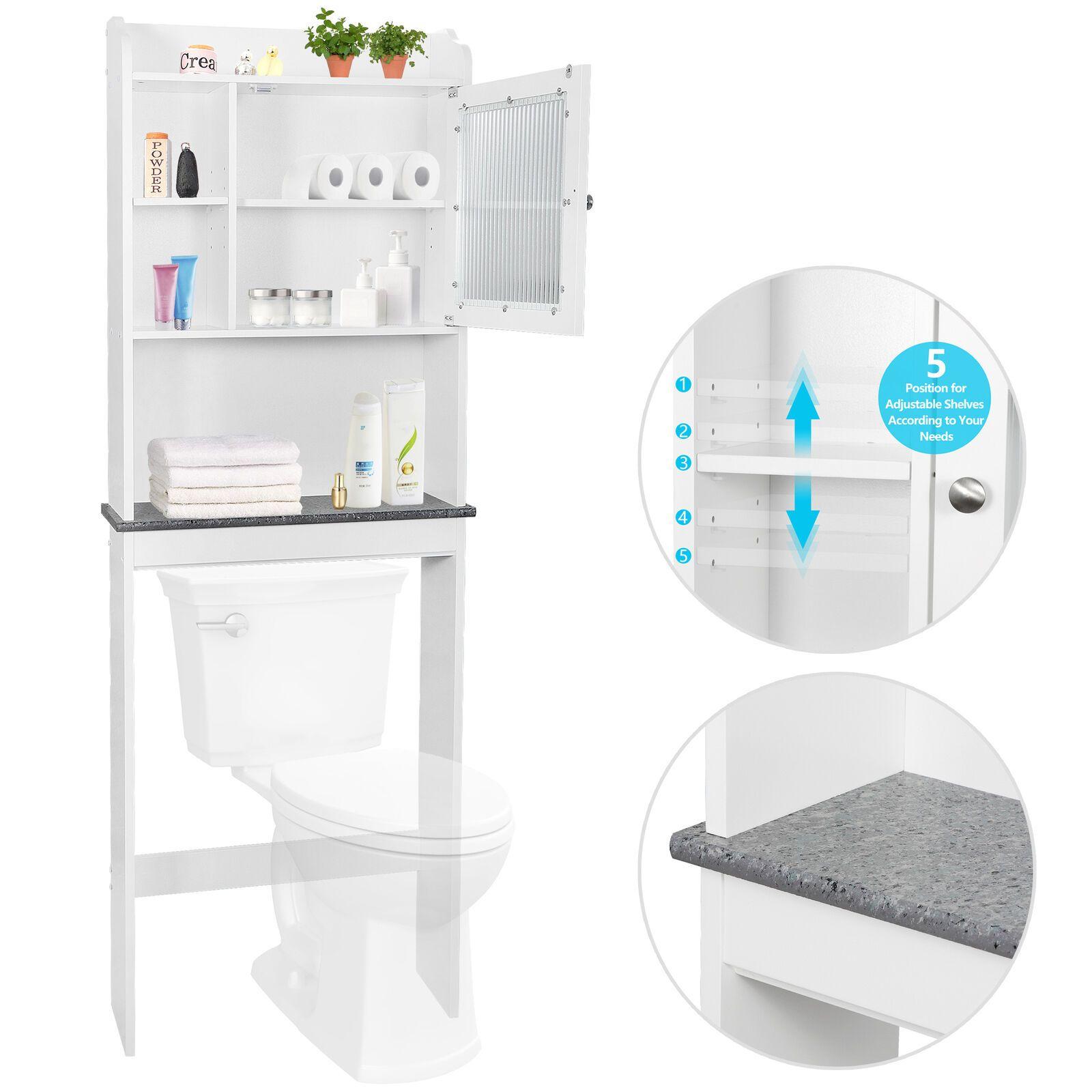 Details About New 3 Shelf Over The Toilet Bathroom Space Saver Organizer Towel Storage Rack Us Bathroom Space Saver Storage Cabinet Shelves Bathroom Organisation