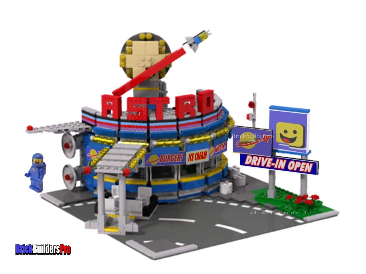Bennys Astro Burger Diner Pdf Lego Instructions And Sticker Pack