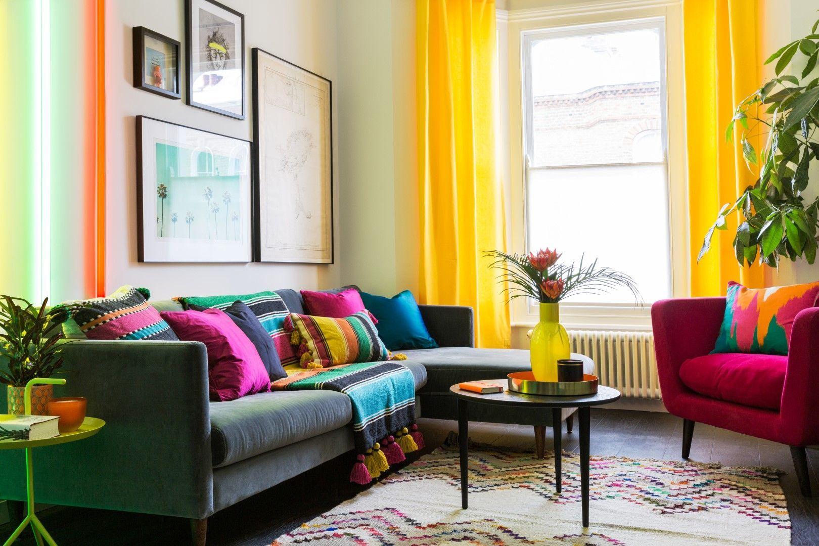 Colourful Interior Design Ideas Wohnzimmer Bunt Bunte