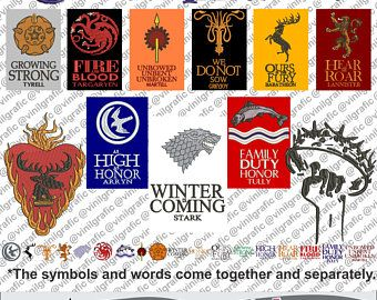 Game of thrones kit of 30 Embroidery Designs Brother Patterns Sew
