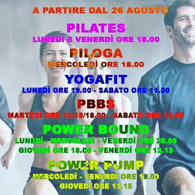 Dal 26 agosto si riparte ! PRONTI? @palestranewmillenniumferrara #pilates #piloga #yog...