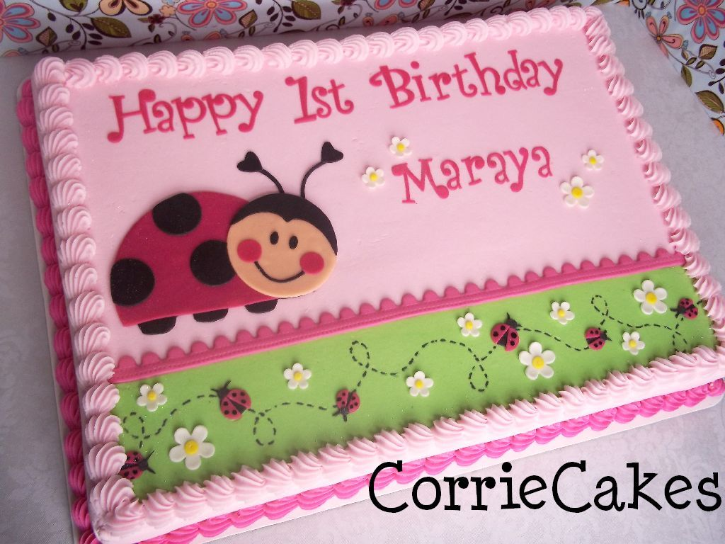 Lady Bug Ladybug Cakes Lady Bug Birthday Cake Buttercream Cake Designs