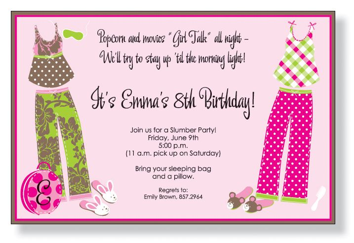 Patry Pjs Invitations By Inviting Company
