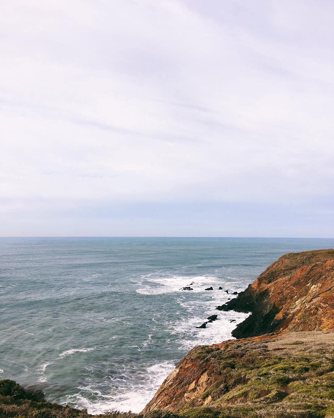 View from yesterday's hike in the Marin Headlands with @tberolz @laurentaylorcreates #weekendmoments #willjourney #marinheadlands