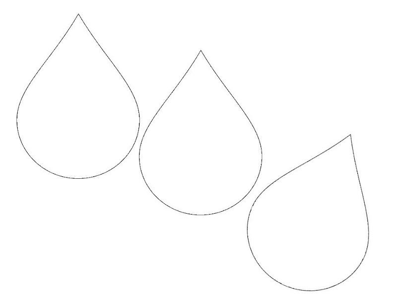 It is a picture of Ambitious Raindrops Template Printable