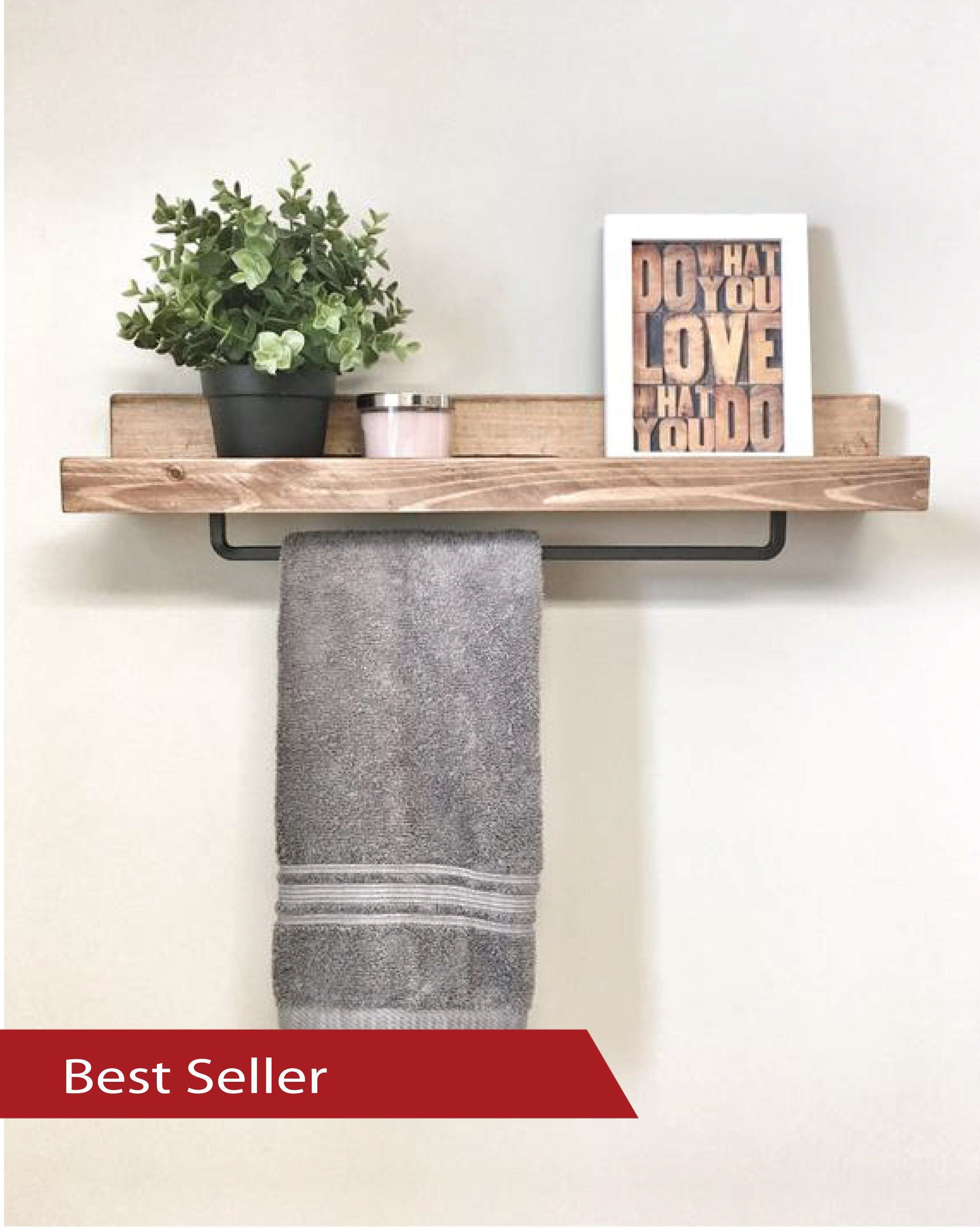 Wood Towel Rack Shelf Ledge Shelves Wooden Rack Rustic Home Decor Bathroom Towel Rack Shelf Farmhouse Towel Bar Shelf Farmhouse Towel Bars Floating Shelves Bathroom Shelves