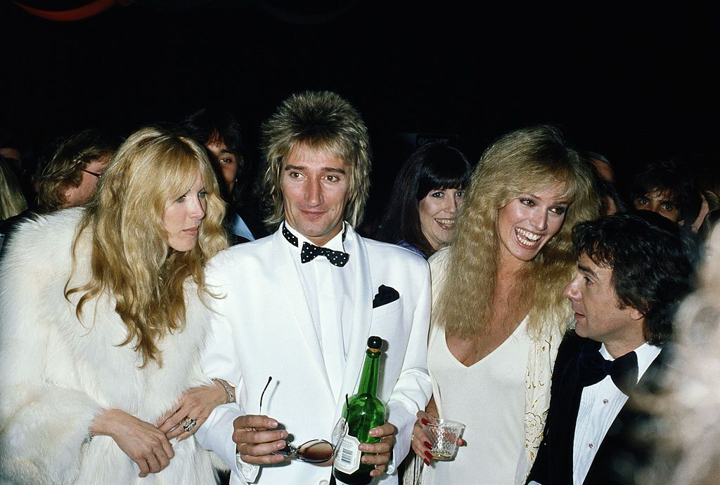 From left to right, fashion model Alana Stewart and her husband Rod and Susan anton