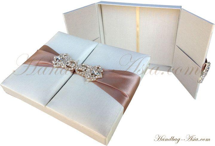 Luxury Ivory Wedding Invitation Box For Cards