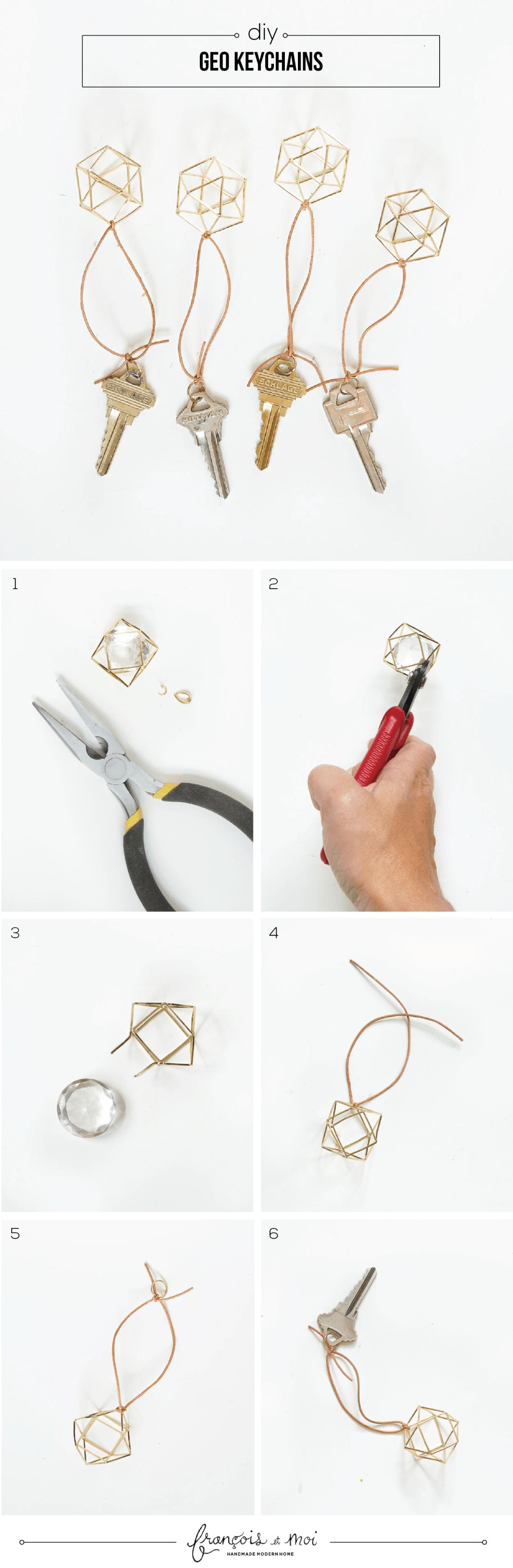 DIY Geometric Keychain Tutorial