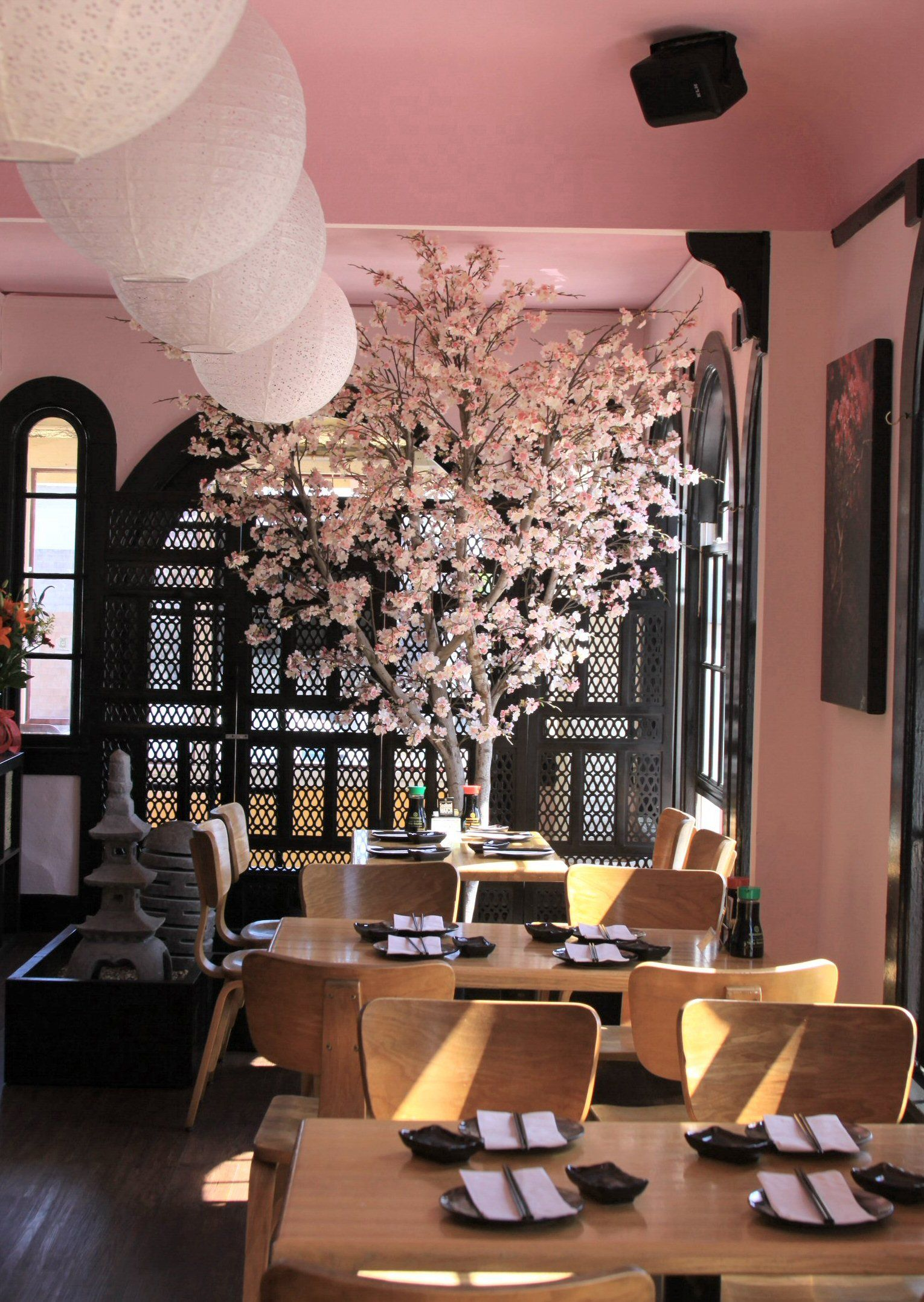 Cherry Blossom Tree In Geisha Restaurant Cheap Artificial Plants Artificial Plants Indoor Artificial Plants Outdoor