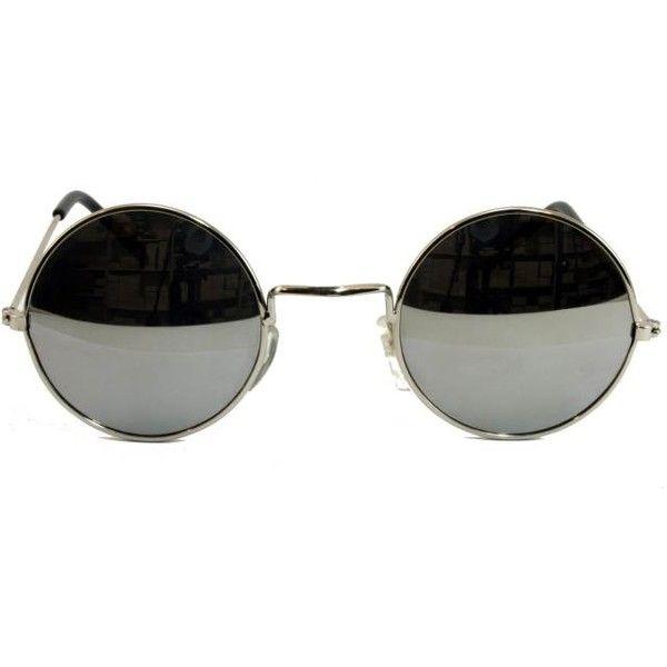 Round Lennon Ozzy Joplin Glasses Specs Shades Mirror Silver Frame