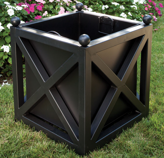 Classic Outdoor Planter Black Planter Boxes Metal 400 x 300