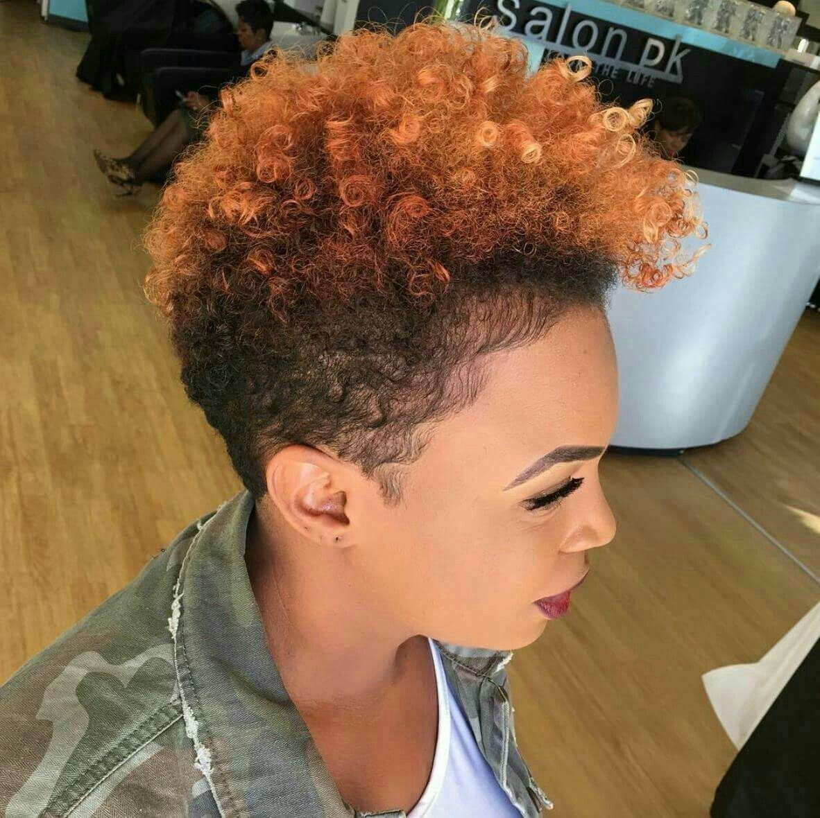 Love The Color And Style Natural Hair Styles Tapered Natural Hair Hair Styles