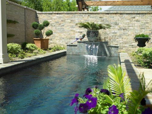 Small Backyard But Lot S Of Pool Hart Pool Colleyville Tx Pool Small Backyard Outdoor