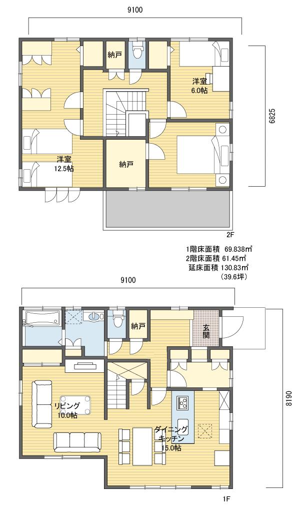 間取り 2階建 30 40坪 東玄関 間取り 東玄関 間取り 極小住宅