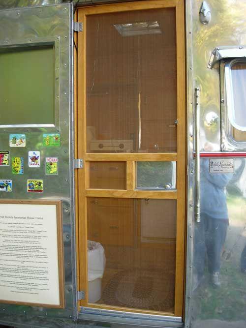 Screen door vintage c&er travel trailer tin can tourist! & Adding a Screen Door to your Serro Scotty | National Serro Scotty ... pezcame.com