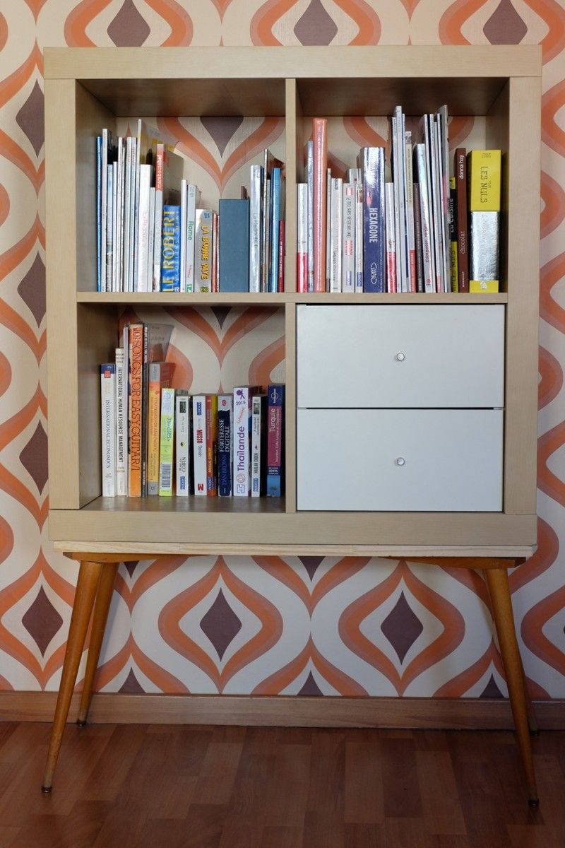 un meuble tag re ann es 70 avec kallax ikea hack and ikea hackers. Black Bedroom Furniture Sets. Home Design Ideas