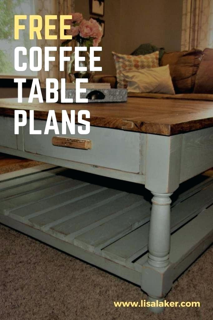 Free Coffee Table Plans This Coffee Table With Drawers Has 4