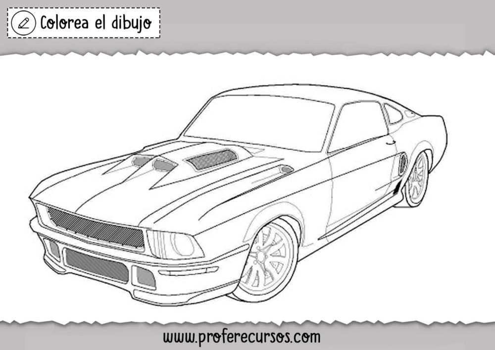 Dibujos De Autos Pintar Profe Recursos Dibujos De Autos Carros Para Colorear Dibujos De Coches