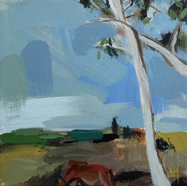 When I Was Young I Saw a Cow original Landscape Painting by Angela Moulton