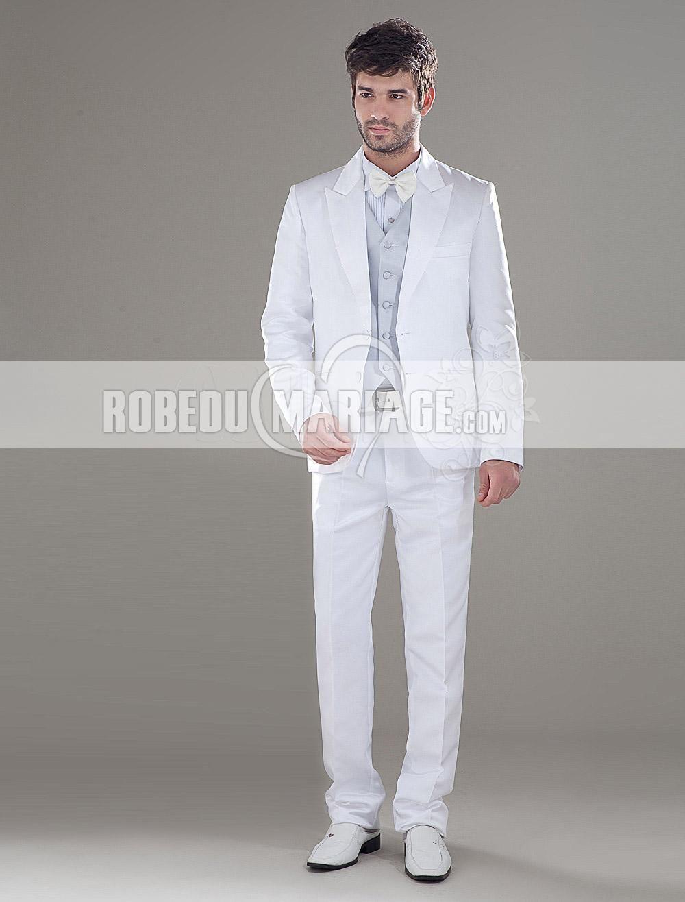 Costume Blanc Pour Homme