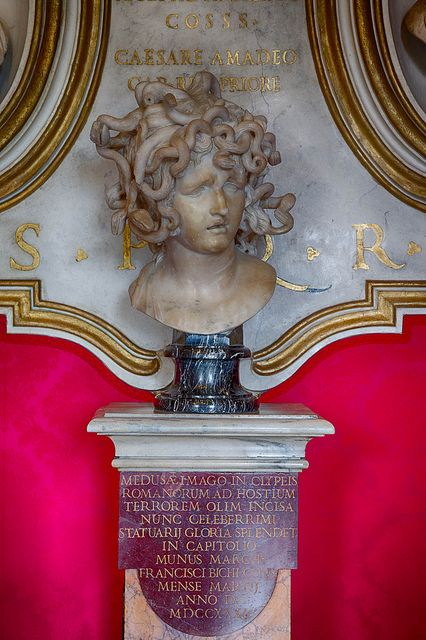 Bust of Medusa, Musei Capitolini, Rome, Italy