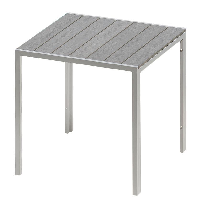 Gartentisch Kudo Ii Polywood Aluminium Grau Platingrau
