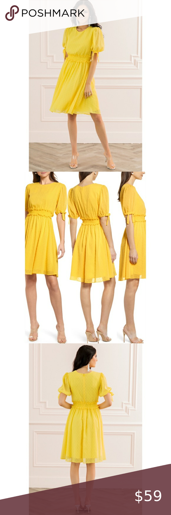 Nwt Rachel Parcell Smocked Waist Dress Yellow New Waist Dress Yellow Dress Cropped Skinny Jeans [ 1740 x 580 Pixel ]